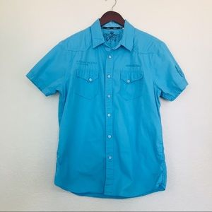GUESS Short Sleeve Button Front Shirt